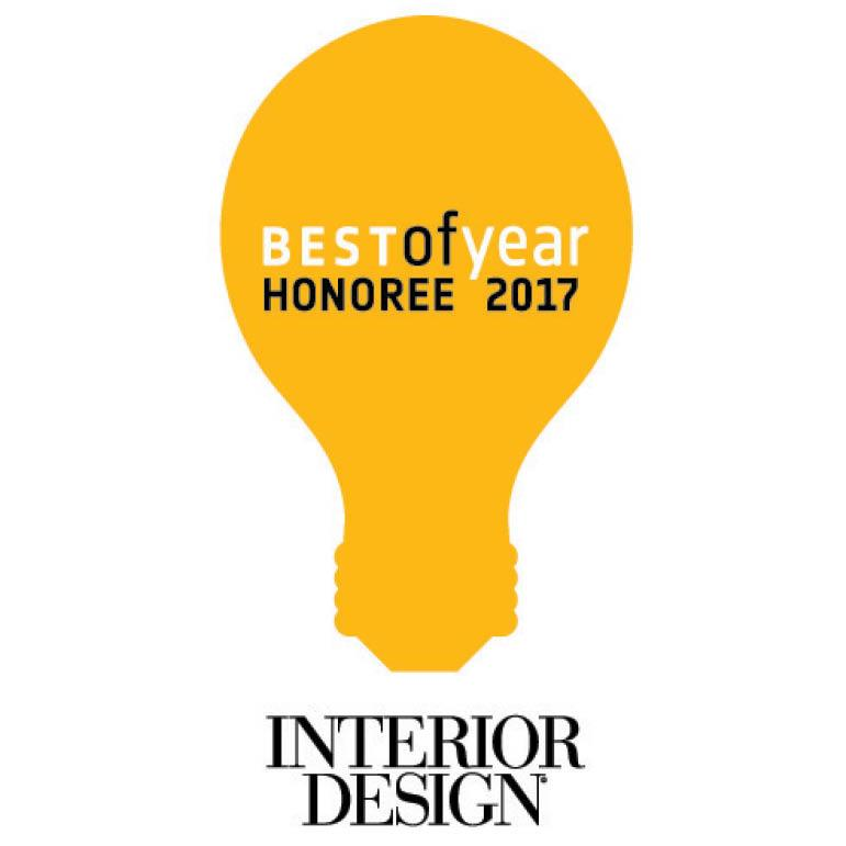 A yellow lightbulb with the words Best of Year Honouree 2017
