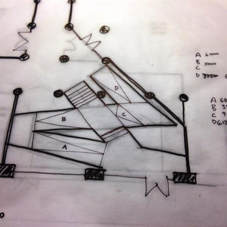 Original ramp sketch of 100 Broadview Avenue
