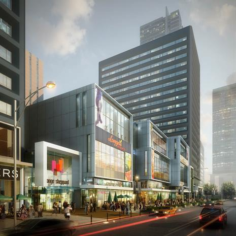 Streetscape rendering of Yonge Sheppard Centre