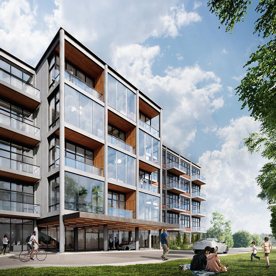 rendering of the adaptive reuse Bata Shoe Factory project refurbishment into residential apartments