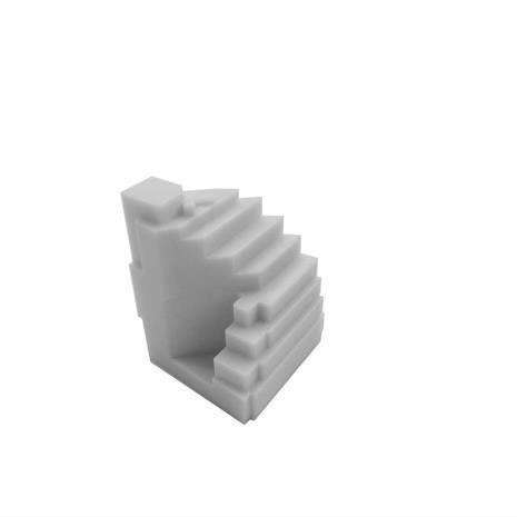 3D print northeast view of 1181 Queen