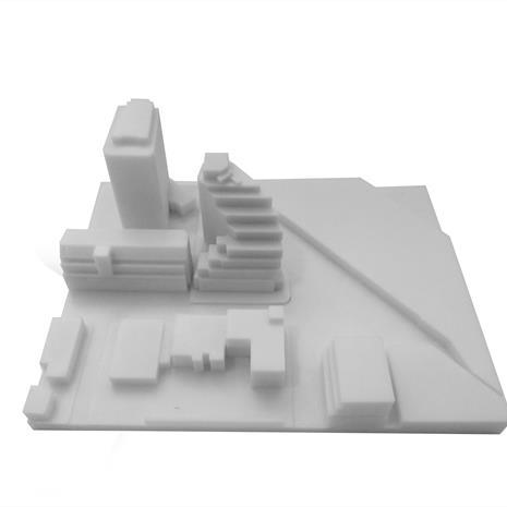 3D print of Queen and Sudbury site with surrounding buildings from the north