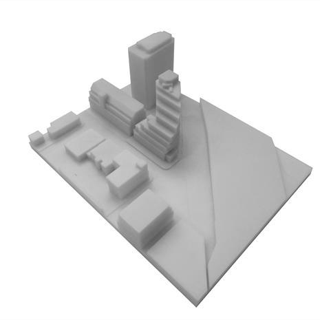 3D print Queen and Sudbury site with surrounding buildings from the northwest