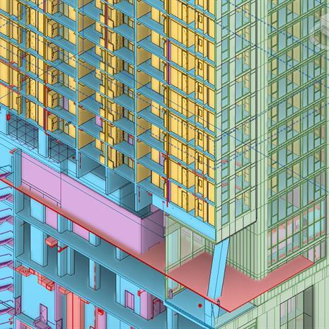 a BIM graphic from the 357 King Street West project