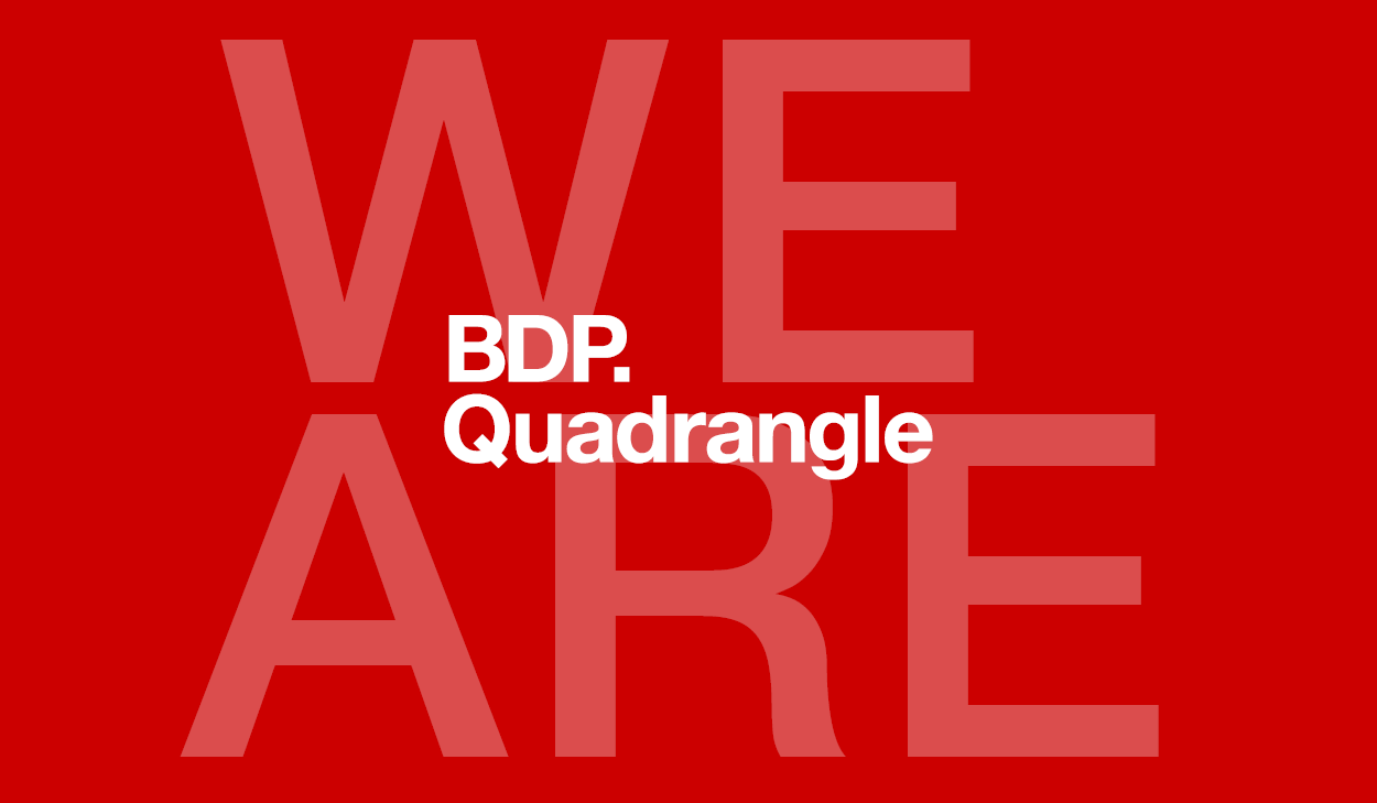 We are BDP Quadrangle on a red background