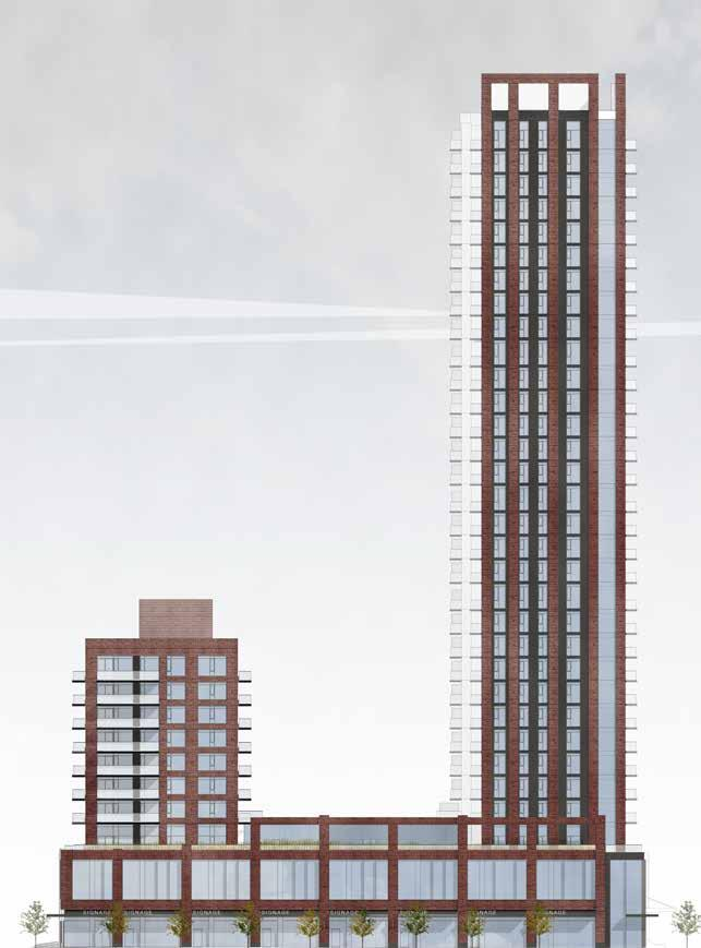 unrendered architectural elevation drawing of Artworks Tower