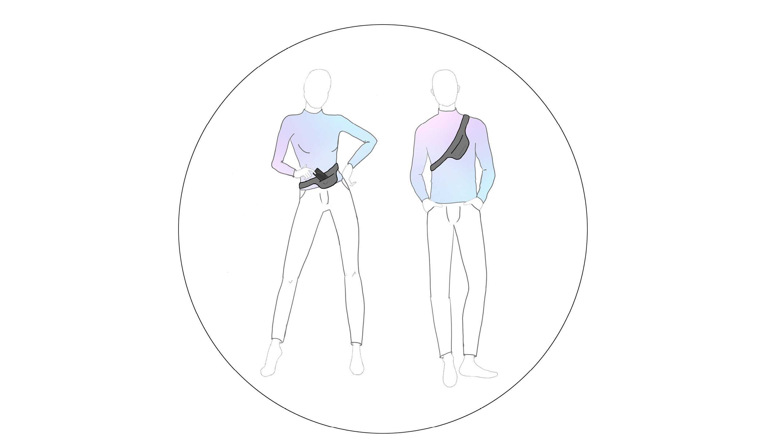 a male and a female wearing the same gender neutral outfit