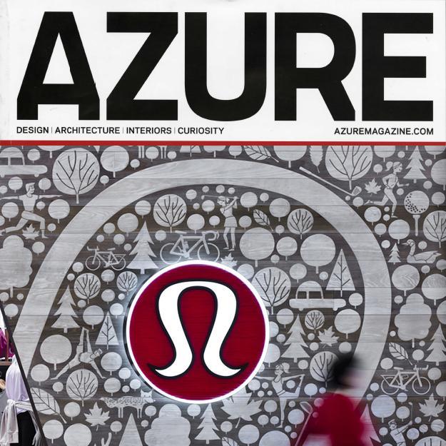 Azure magazine cover with a Lululemon storefront