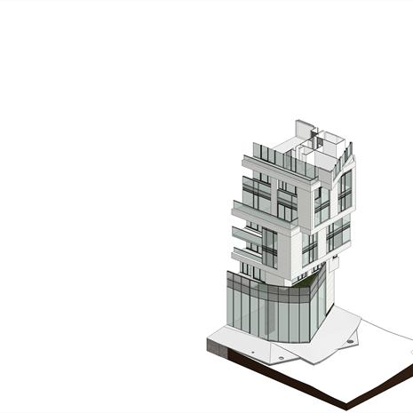 section rendering of the corner angles