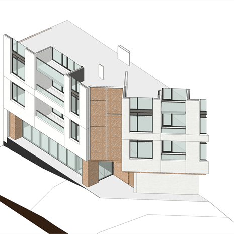 section rendering of the main entrance