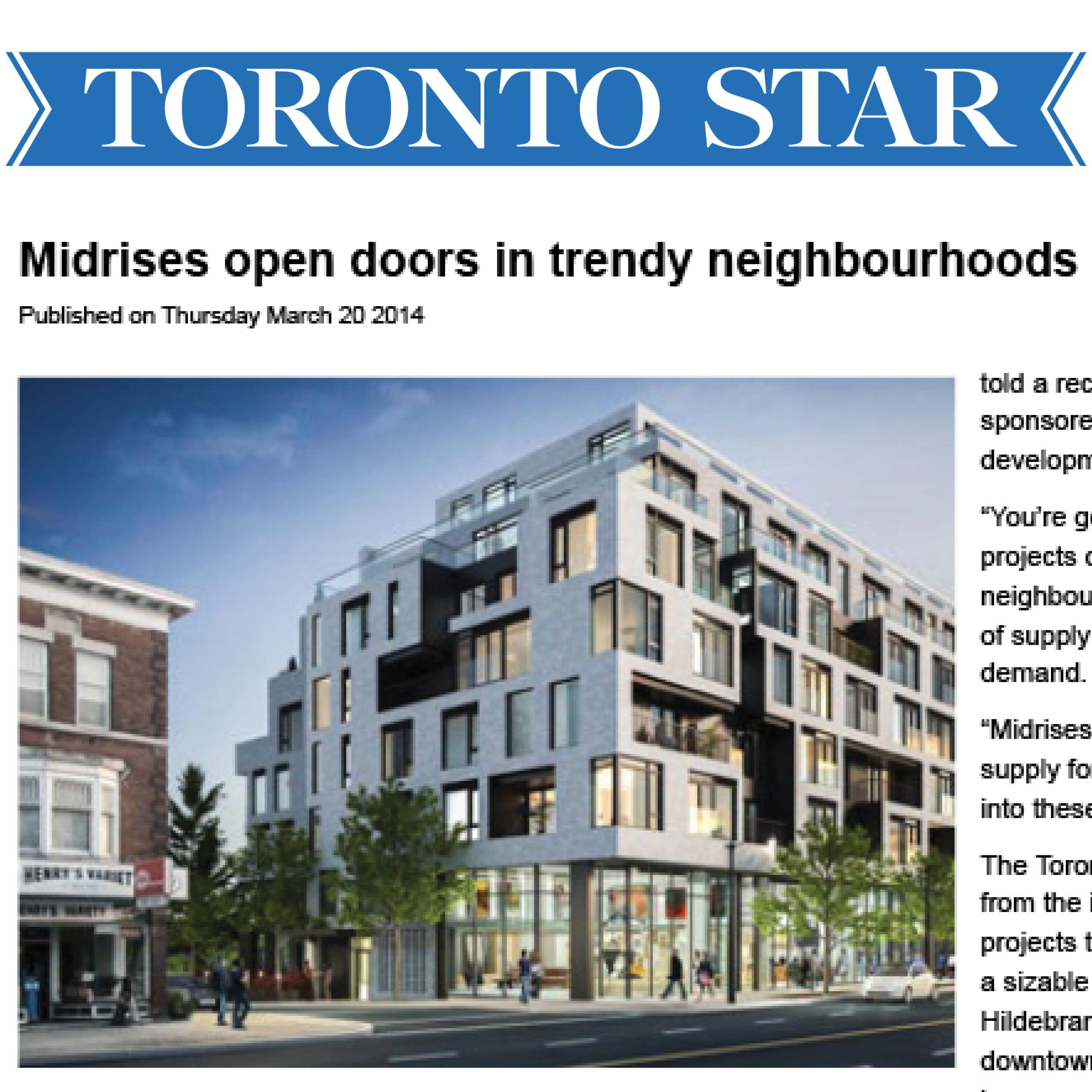 Toronto Star article about DUKE Condos