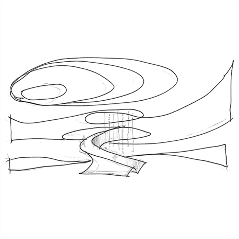 Sketch of Samsung Stairs
