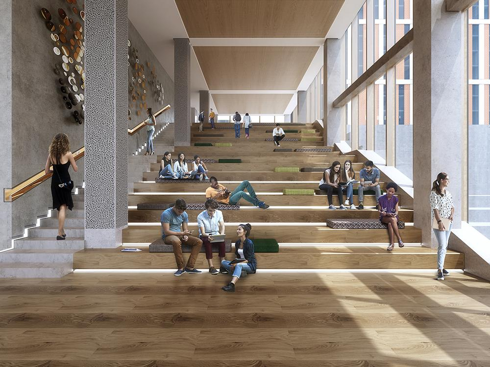 rendering of lounge stairs