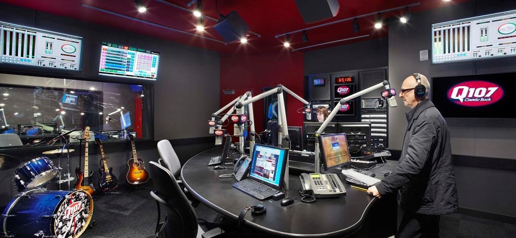 Q107 recording studio.
