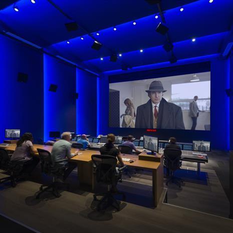 Media editing studio.