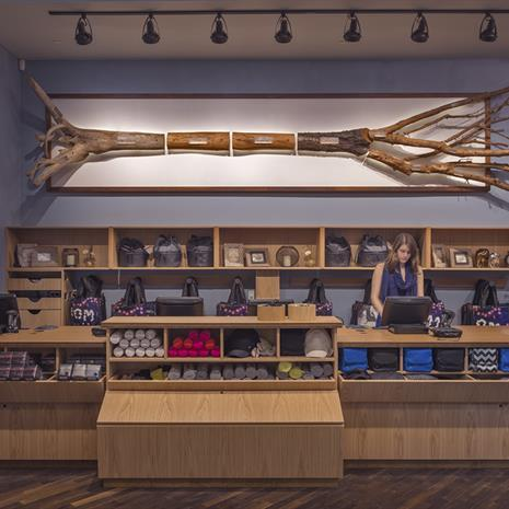Checkout counter at Lululemon Yorkdale.