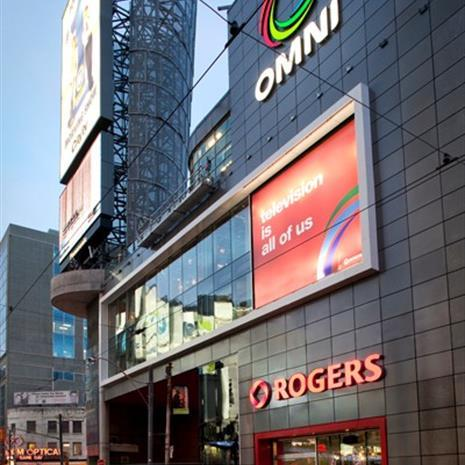 Entrance of Rogers Broadcast Centre.