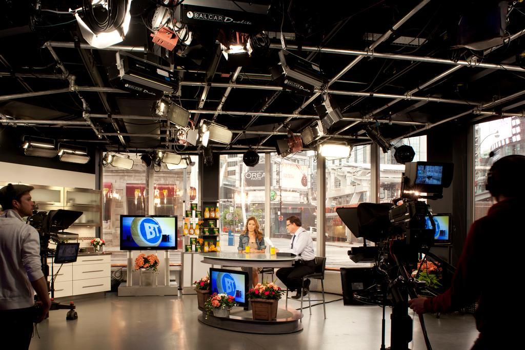 Breakfast Television film set.