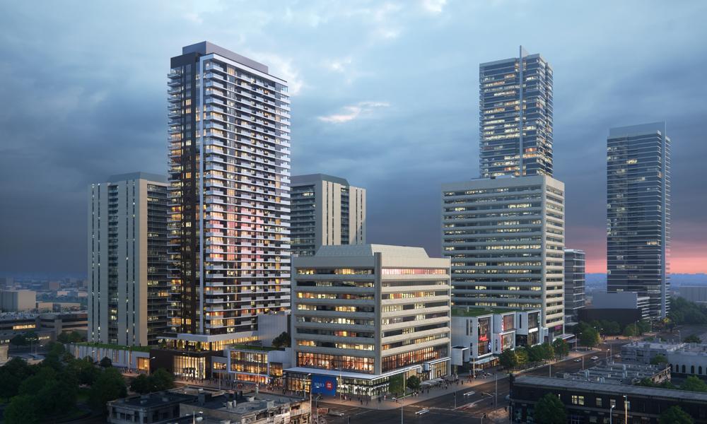 Bird's-eye view of Yonge Sheppard Centre.